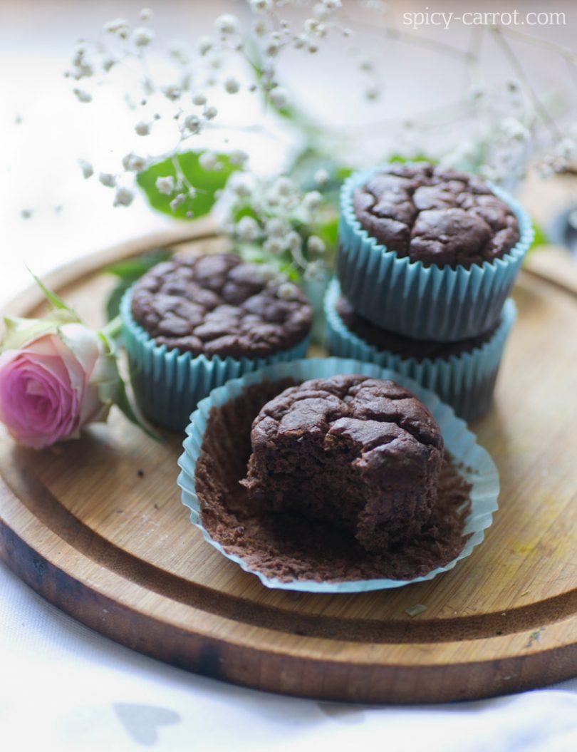 [bezglutenowe]Muffiny fasolowe brownie